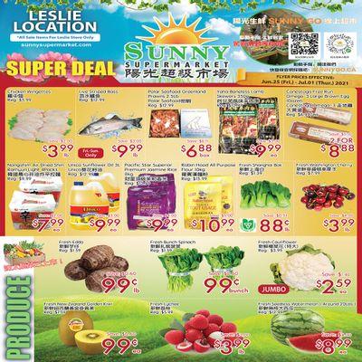 Sunny Supermarket (Leslie) Flyer June 25 to July 1