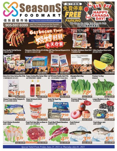 Seasons Food Mart (Thornhill) Flyer June 25 to July 1