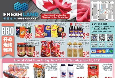 FreshLand Supermarket Flyer June 25 to July 1