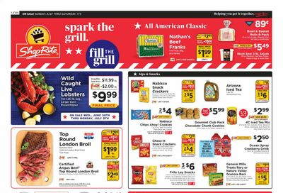 ShopRite (CT, DE, MD, NJ, NY, PA) Weekly Ad Flyer June 27 to July 3