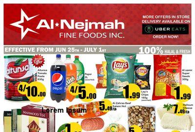 Alnejmah Fine Foods Inc. Flyer June 25 to July 1
