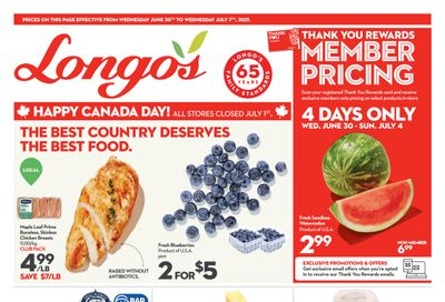 Longo's (Ancaster & Liberty Village) Flyer June 30 to July 7