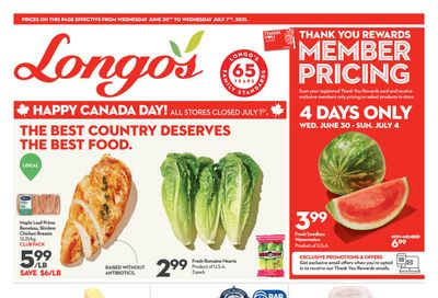 Longo's Flyer June 30 to July 7