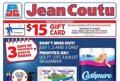 Jean Coutu (NB) Flyer July 2 to 8