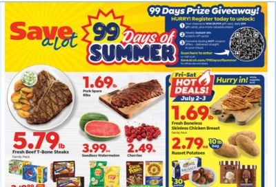 Save a Lot Weekly Ad Flyer June 30 to July 6