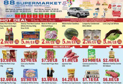 88 Supermarket Flyer July 1 to 7