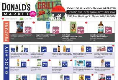 Donald's Market Flyer July 1 to 14