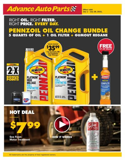 Advance Auto Parts Weekly Ad Flyer July 1 to July 28