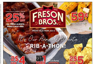 Freson Bros. Flyer July 2 to 8