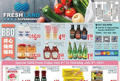 FreshLand Supermarket Flyer July 2 to 8