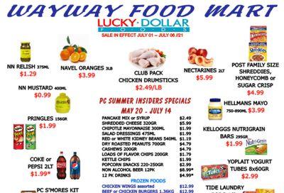 WayWay Food Mart Flyer July 1 to 6