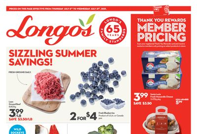 Longo's (Ancaster & Liberty Village) Flyer July 8 to 21