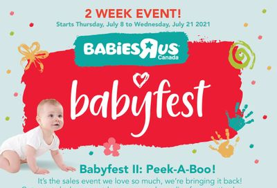 Babies R Us BabyFest Flyer July 8 to 21