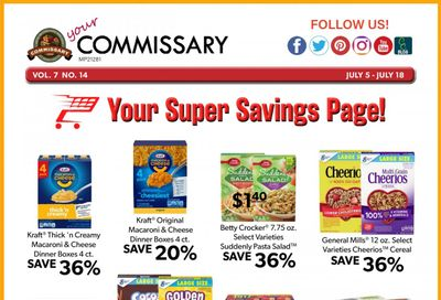 Commissary Weekly Ad Flyer July 5 to July 18