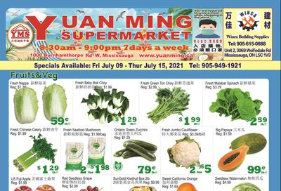 Yuan Ming Supermarket Flyer July 9 to 15