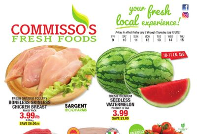 Commisso's Fresh Foods Flyer July 9 to 15