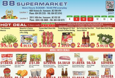 88 Supermarket Flyer July 8 to 14