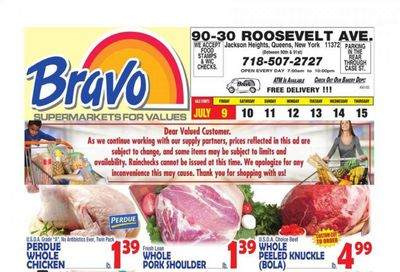 Bravo Supermarkets (CT, FL, MA, NJ, NY, PA) Weekly Ad Flyer July 9 to July 15