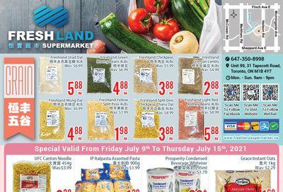 FreshLand Supermarket Flyer July 9 to 15