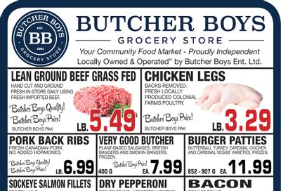 Butcher Boys Grocery Store Flyer July 7 to 15