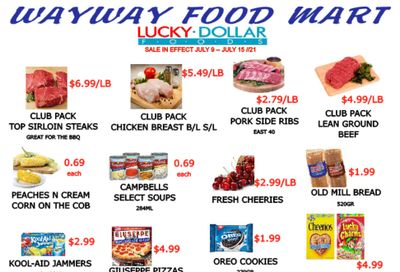 WayWay Food Mart Flyer July 9 to 15