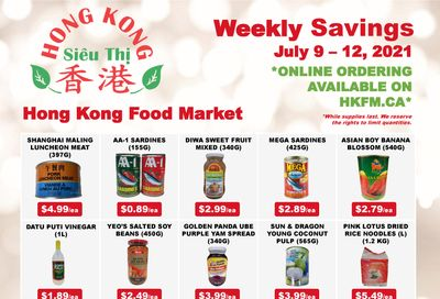 Hong Kong Food Market Flyer July 9 to 12