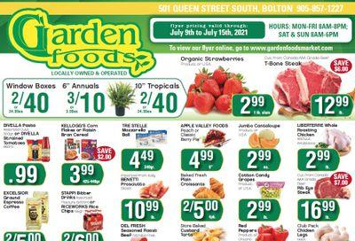 Garden Foods Flyer July 9 to 15