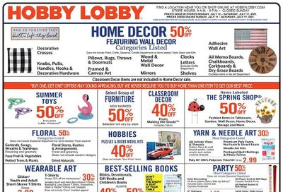 Hobby Lobby Weekly Ad Flyer July 11 to July 17