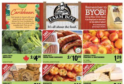 Farm Boy Flyer July 15 to 21