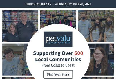 Pet Valu Flyer July 15 to 28