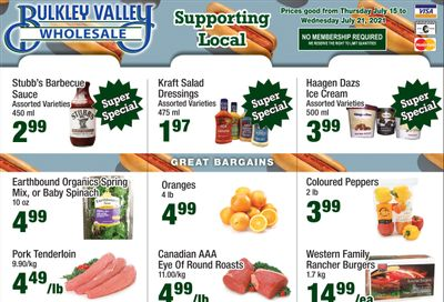 Bulkley Valley Wholesale Flyer July 15 to 21