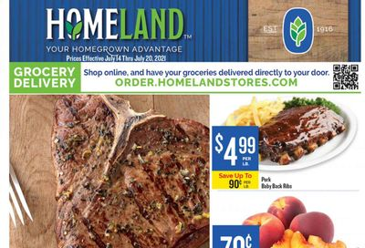 Homeland (OK, TX) Weekly Ad Flyer July 14 to July 20