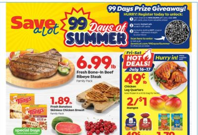 Save a Lot Weekly Ad Flyer July 14 to July 20