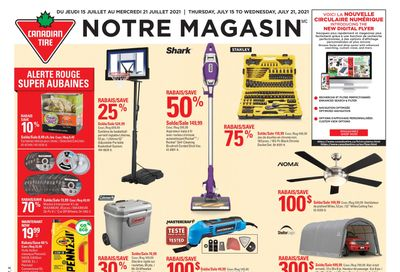 Canadian Tire (QC) Flyer July 15 to 21