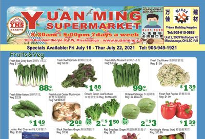 Yuan Ming Supermarket Flyer July 16 to 22