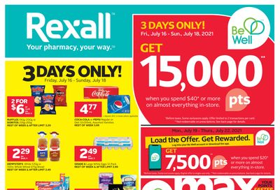 Rexall (West) Flyer July 16 to 22