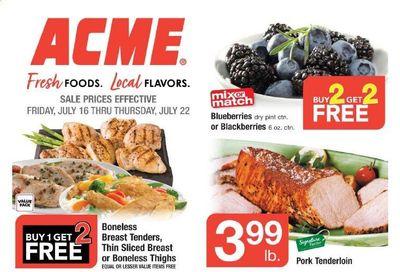 ACME (DE, NJ, NY, PA) Weekly Ad Flyer July 16 to July 22