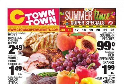 C-Town (CT, FL, MA, NJ, NY, PA) Weekly Ad Flyer July 16 to July 22