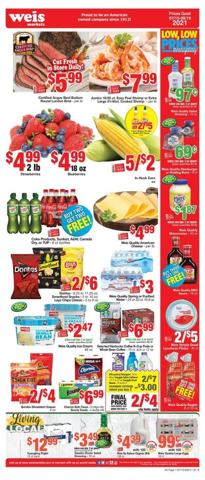 Weis (MD, NY, PA) Weekly Ad Flyer July 15 to August 19