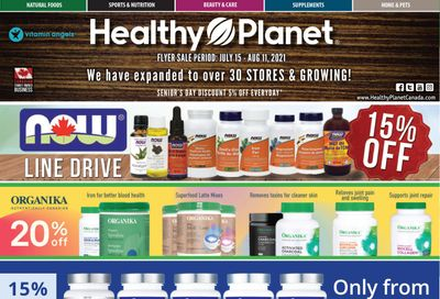 Healthy Planet Flyer July 15 to August 11