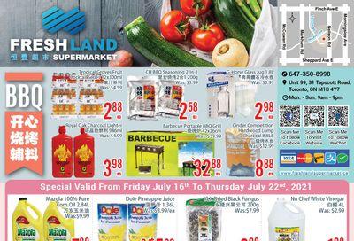FreshLand Supermarket Flyer July 16 to 22