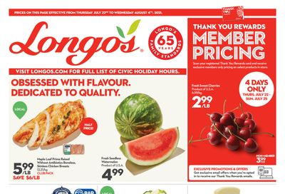Longo's Flyer July 22 to August 4