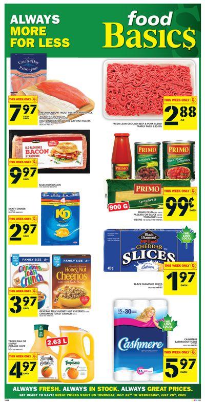 Food Basics Flyer July 22 to 28