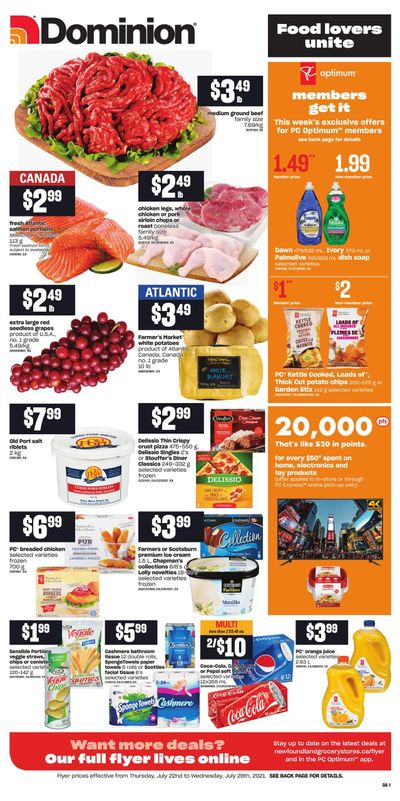 Dominion Flyer July 22 to 28