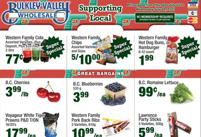 Bulkley Valley Wholesale Flyer July 22 to 28