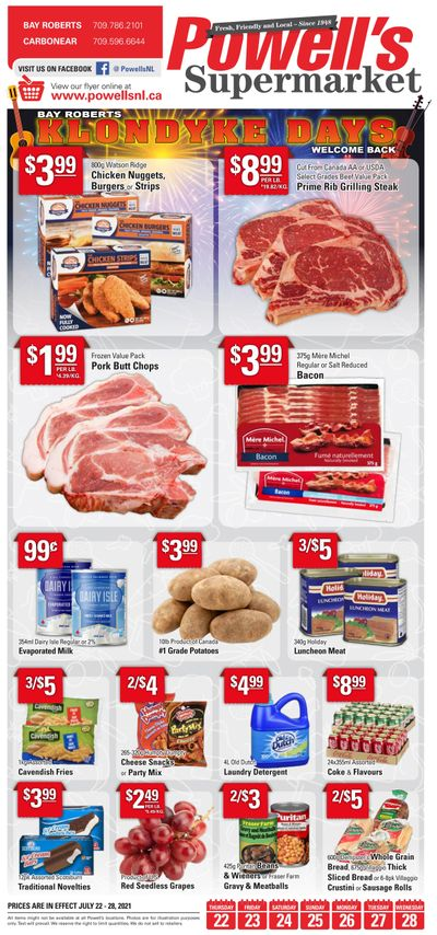 Powell's Supermarket Flyer July 22 to 28