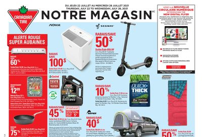 Canadian Tire (QC) Flyer July 22 to 28