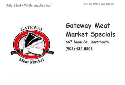 Gateway Meat Market Flyer July 22 to 28