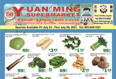 Yuan Ming Supermarket Flyer July 23 to 29