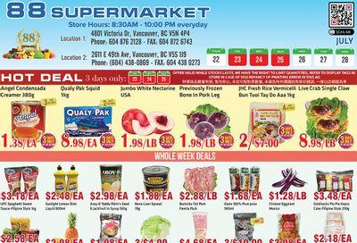 88 Supermarket Flyer July 22 to 28